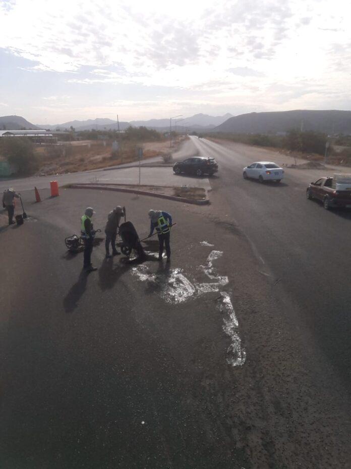 Continúa Servicios Públicos trabajando en el bacheo de calles de la ciudad